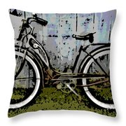 1953 Schwinn Bicycle Throw Pillow