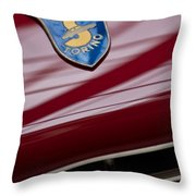 1953 Siata 208s Spyder Emblem Throw Pillow