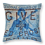 1953 The National Guard Of The U. S. Stamp Throw Pillow