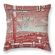 1954 Centenary Of Australian Telegraph Stamp Throw Pillow