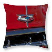 1954 Chevrolet Convertible Hood Emblem Throw Pillow