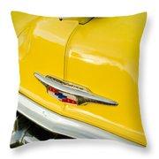 1954 Chevrolet Hood Ornament 4 Throw Pillow
