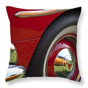 1954 Hudson Hornet Wheel And Emblem Throw Pillow