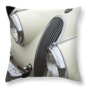 1954 Jaguar Xk120 Roadster Grille Throw Pillow