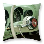 1954 Kaiser Darrin Steering Wheel Throw Pillow