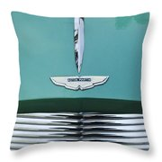 1955 Aston Martin Grille Emblem Throw Pillow by Jill Reger