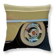 1955 Cadillac 2 Throw Pillow