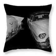 1955 Cadillac Series 62 El Dorado Convertible Throw Pillow