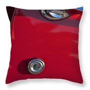 1955 Chevrolet 210 Door Handle Throw Pillow
