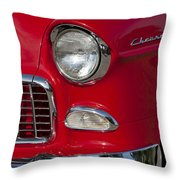 1955 Chevrolet 210 Front End Throw Pillow