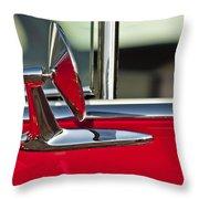 1955 Chevrolet 210 Rear View Mirror Throw Pillow