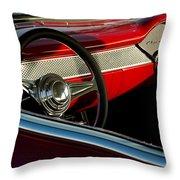 1955 Chevrolet 210 Steering Wheel Throw Pillow