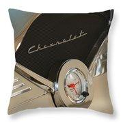 1955 Chevrolet Belair Clock Throw Pillow