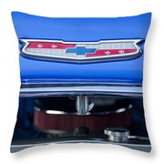 1955 Chevrolet Belair Hood Emblem 4 Throw Pillow
