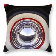 1955 Chevrolet Nomad Wheel Throw Pillow