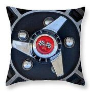 1955 Chevrolet Truck Wheel Rim Throw Pillow