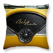 1955 Chevy Belair Clock Throw Pillow