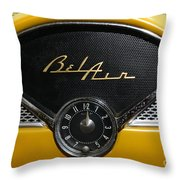 1955 Chevy Belair Clockface Throw Pillow
