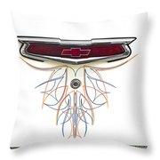 1955 Chevy Emblem Throw Pillow