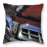 1955 Chrysler Hood Ornament Throw Pillow