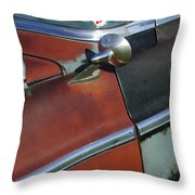 1955 Chrysler Windsor Deluxe Emblem Throw Pillow