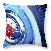 1955 Gmc Suburban Carrier Pickup Truck Wheel Emblem Throw Pillow