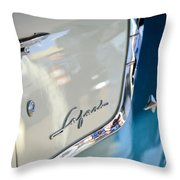 1955 Pontiac Safari Station Wagon Emblem Throw Pillow