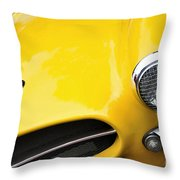 1956 Buckle Gt Coupe - Badge Grill Headlight Throw Pillow