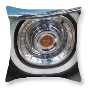 1956 Cadillac Front Wheel Throw Pillow