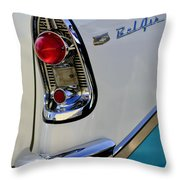1956 Chevrolet Belair Taillight Emblem Throw Pillow