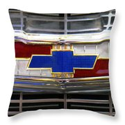 1956 Chevrolet Grill Emblem Throw Pillow