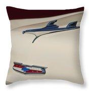 1956 Chevrolet Hood Ornament 5 Throw Pillow