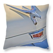 1956 Chrysler Windsor Town And Country  Hood Ornament Throw Pillow
