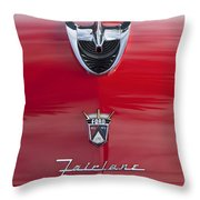 1956 Ford Fairlane Hood Ornament 7 Throw Pillow