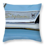 1956 Ford Fairlane Skyliner Emblem Throw Pillow