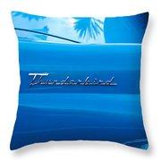 1956 Ford Thunderbird Taillight Emblem Throw Pillow