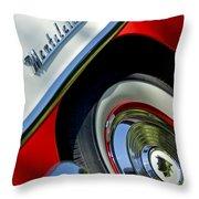 1956 Mercury Montclair Wheel Emblem Throw Pillow