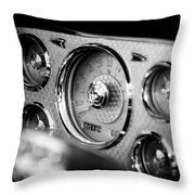 1956 Packard Caribbean Dashboard Throw Pillow by Sebastian Musial