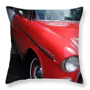 1956 Red And White Chevy Throw Pillow