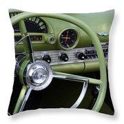 1956 Thunderbird Interior Throw Pillow