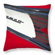 1957 Chevrolet Cameo Pickup Emblem Throw Pillow