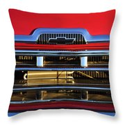 1957 Chevrolet Pickup Truck Grille Emblem Throw Pillow by Jill Reger
