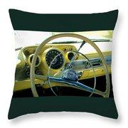 1957 Chevy Bel Air Dash Throw Pillow