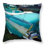 1957 Chevy Convertable Throw Pillow