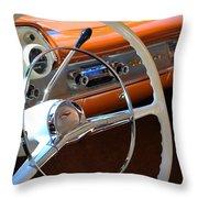 1957 Chevy Dash Throw Pillow
