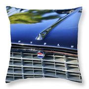1957 Chrysler 300c Grille Emblem Throw Pillow