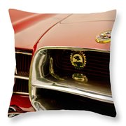 1957 Dual Ghia Convertible Coupe Grille And Hood Emblem Throw Pillow