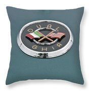 1957 Dual-ghia Convertible Emblem Throw Pillow