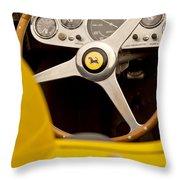 1957 Ferrari 500 Trc Scaglietti Spyder Steering Wheel Throw Pillow