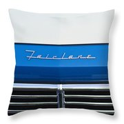 1957 Ford Fairlane Grille Emblem Throw Pillow